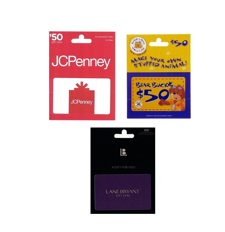 Get a $50 JCPenney, Build-A-Bear or Lane Bryant Gift Card for $40 ...
