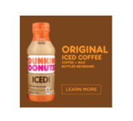 Get A Bottle Of Dunkin Donuts Iced Coffee For Free
