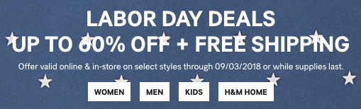 H M Labor Day Sale Get Up To 60 Off With Free Shipping On All